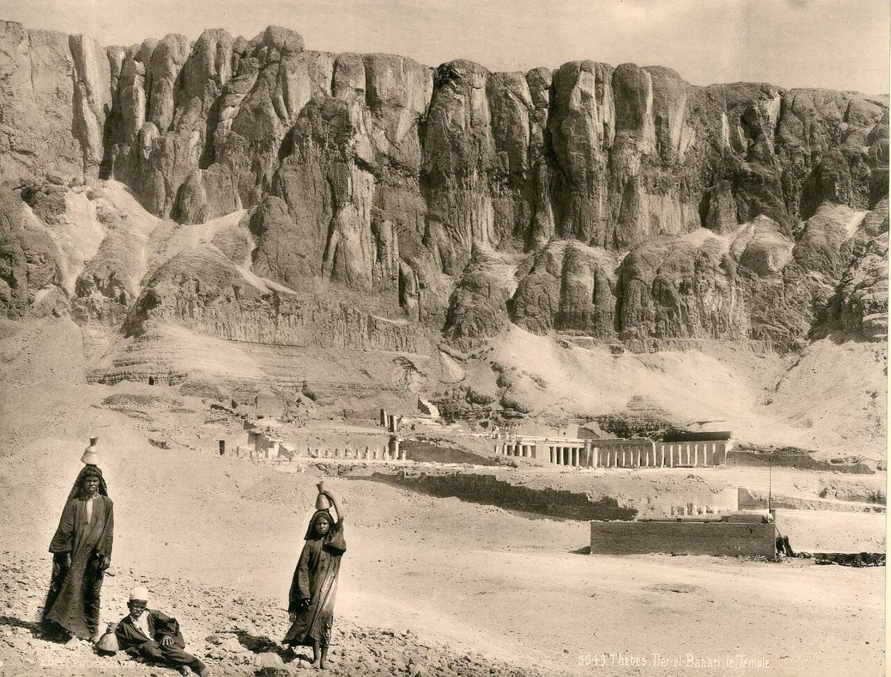 Фивы, Дейр эль-Бахри, Храм. 1900