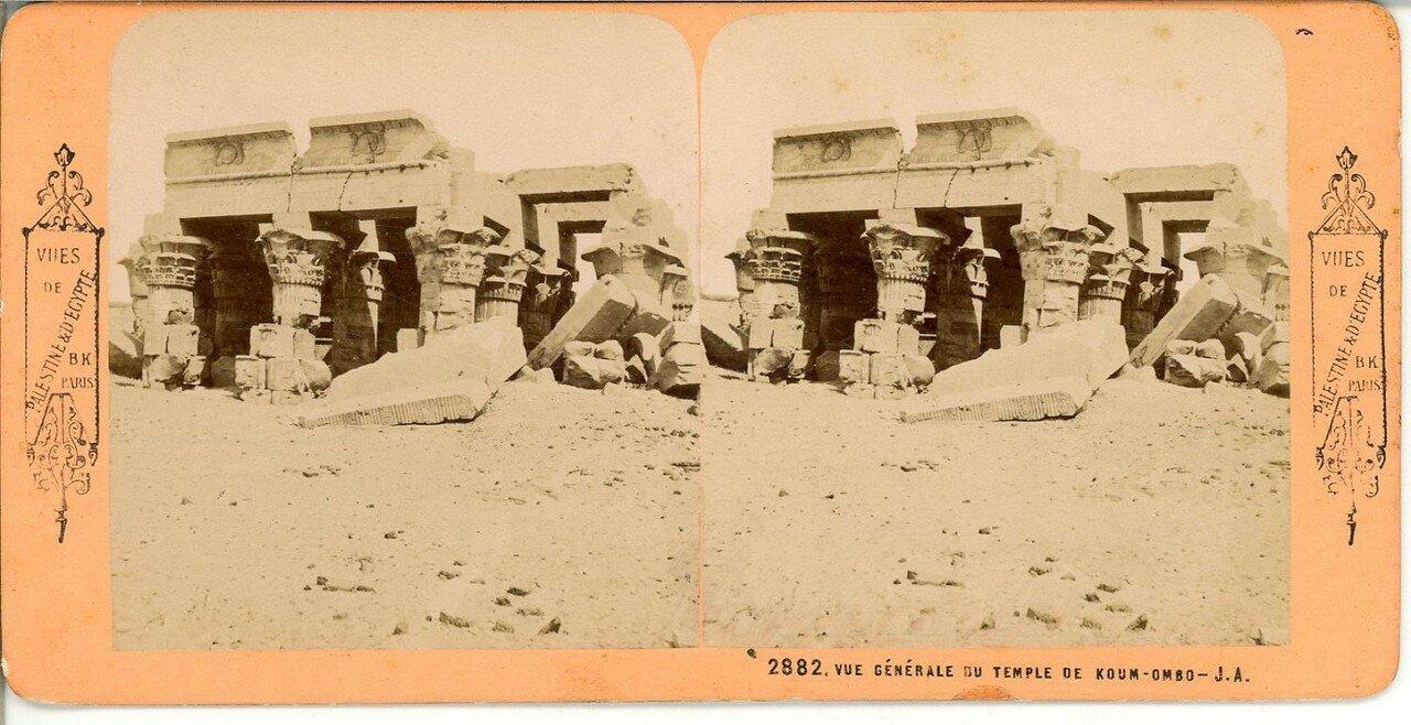 Храм Себека и Гора. Общий вид. 1870-е