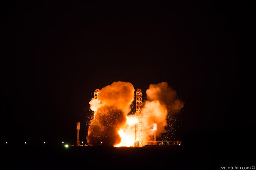 Как русский Протон взлетал с испанским спутником. ФОТО!