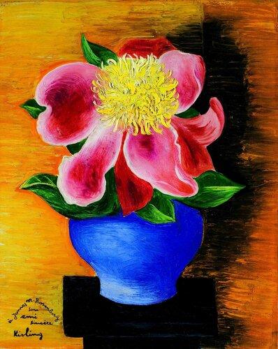 Цветок в синей вазе. 41 x 33 см. масло, холст. Частная коллекция.jpg