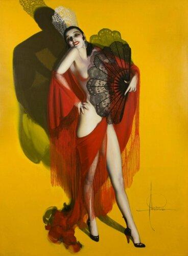 Rolf Armstrong (1890 – 1960, American) Carmen – Fan Dancer