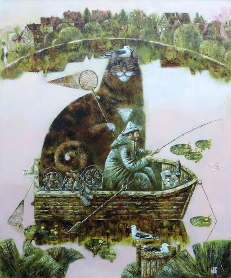 Картины с котиками Марины Борис
