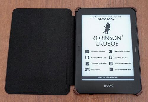 Onyx Boox Robinson Crusoe 2 - внешний вид с раскрытой обложкой