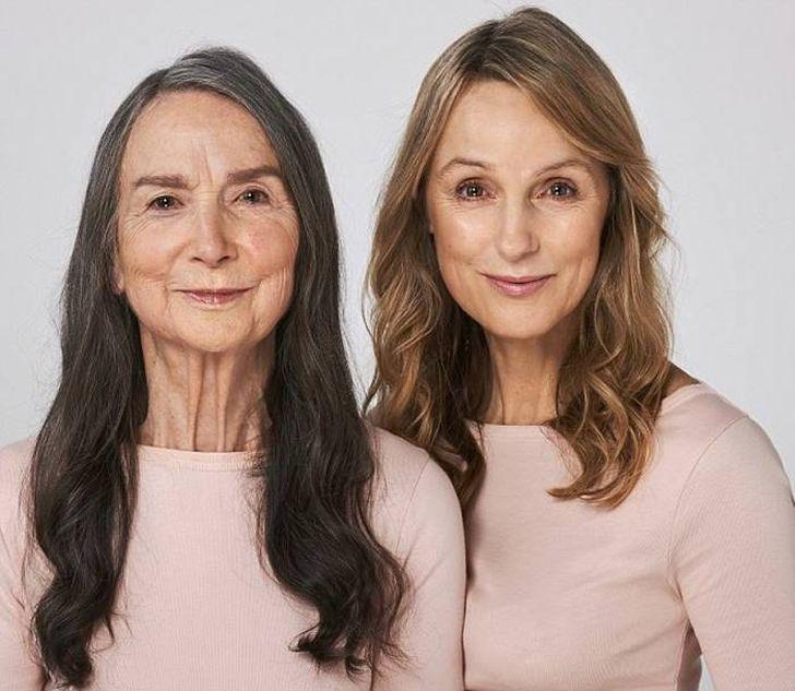 Слева: 83-летняя Фрэнсис Данскомб, бывшая домоседка, которая стала моделью. Она живет в Суррее и име
