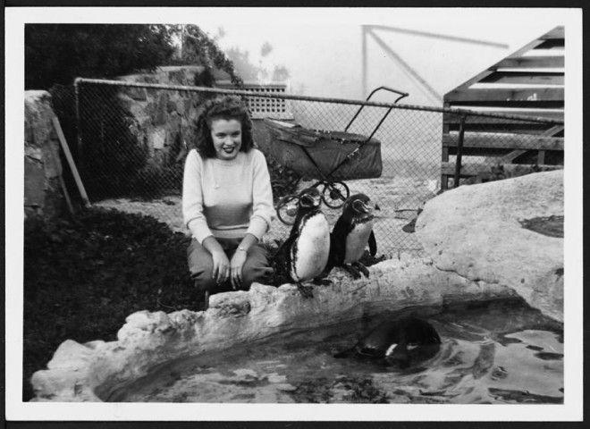 Калифорния, 1941 год.      Норма Джин Догерти на фоне лагеря своего мужа.