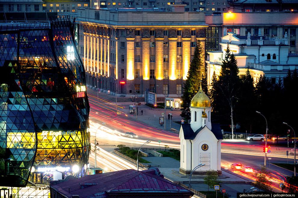 25. Многие новосибирцы верят в то, что часовня расположена в географическом центре России. На самом