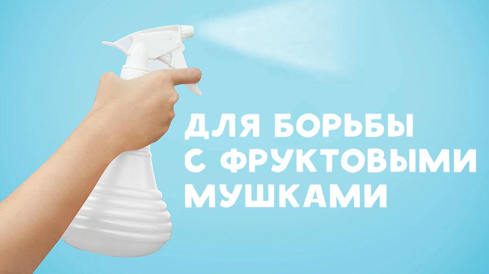 Сделайте спрей от мушек. Налейте в пульверизатор спирт. Распылите жидкость на летающих мушек. Они уп