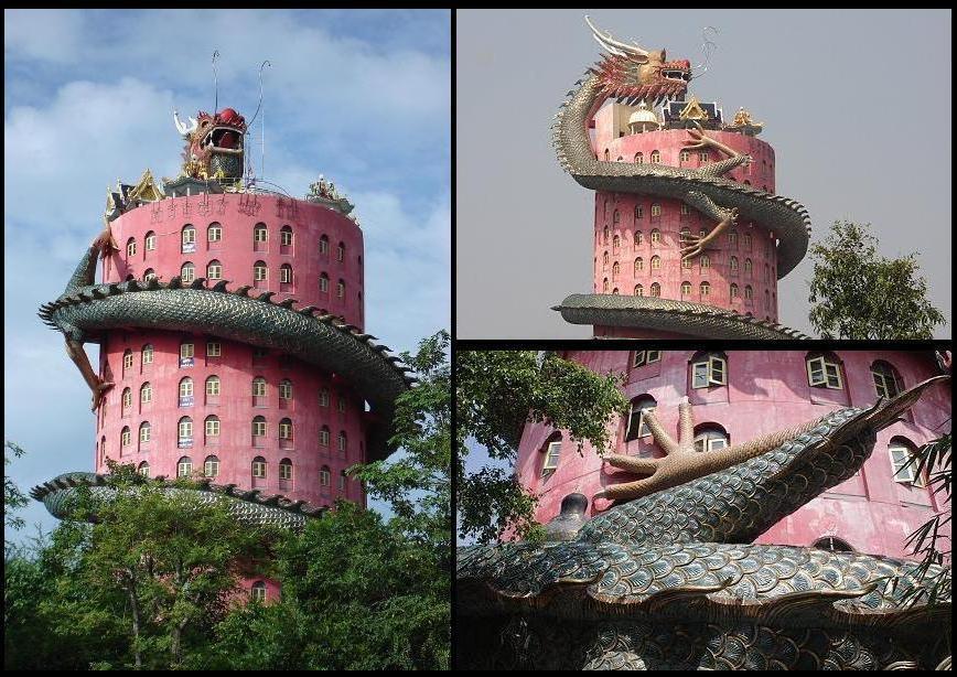 Этот необычный храмовый комплекс построен в Таиланде, городе Накхонпатхом (Nakhon Pathom), администр