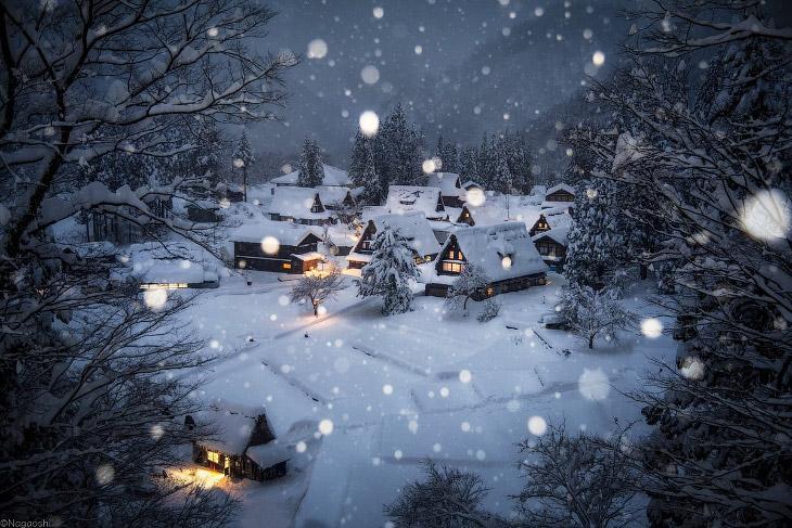 Как выглядит японская зима