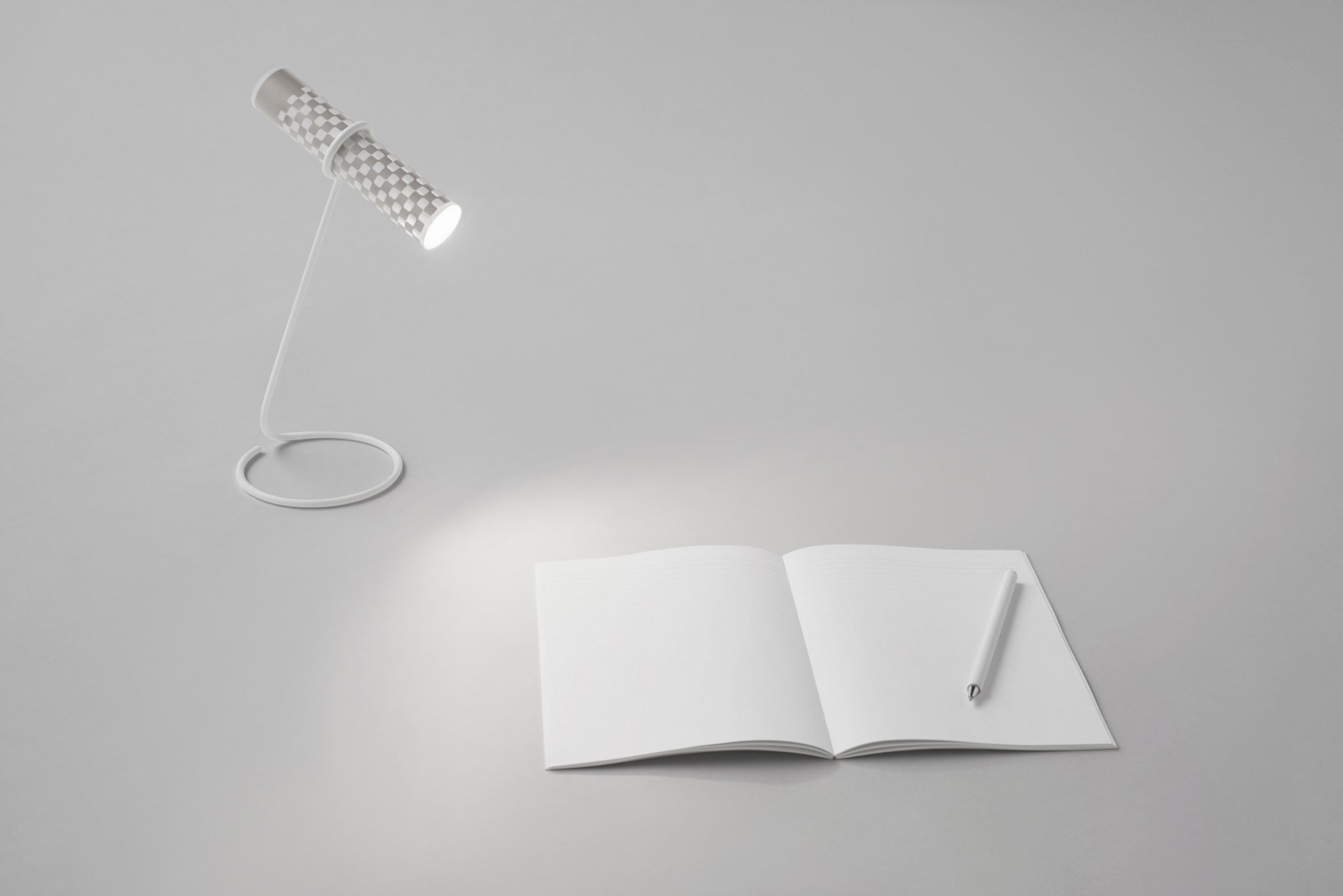 A Flashlight Made of Paper by Japanese Studio Nendo