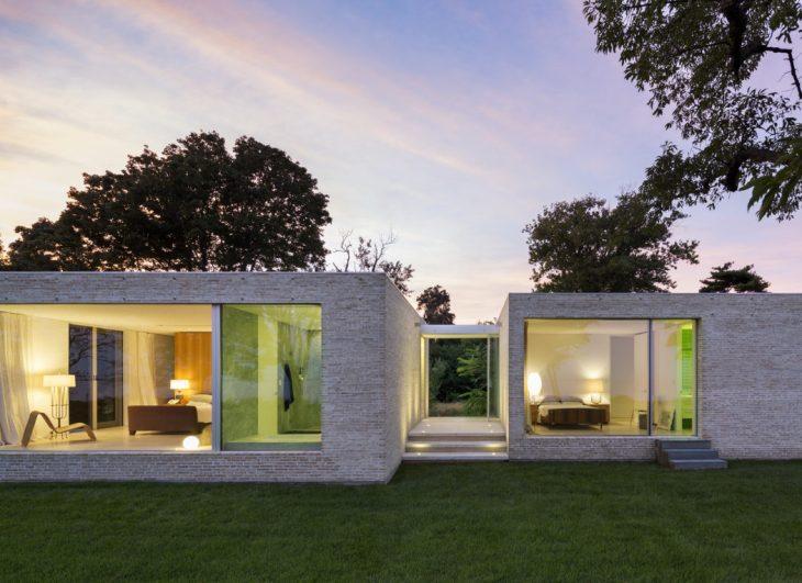 Toshihiro Oki Architect  designed this modern residence located in Bellport, New York, U