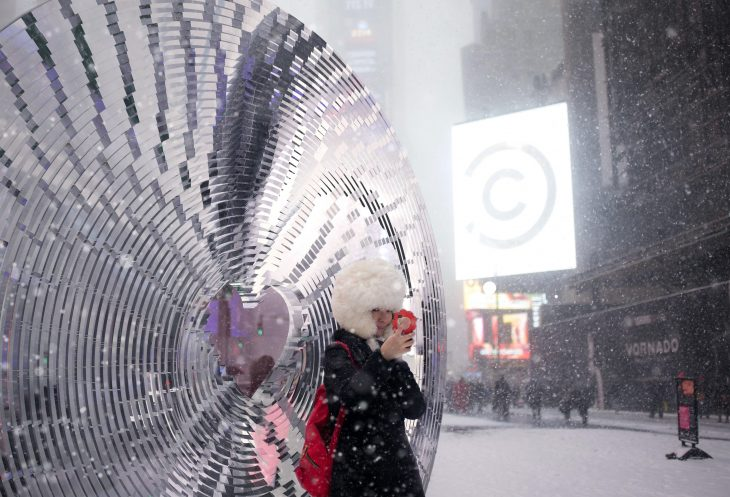 This marks the 10th anniversary of the Times Square Valentine Heart Design Competition, an annual ev