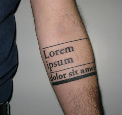 Quando o design vira tatuagem
