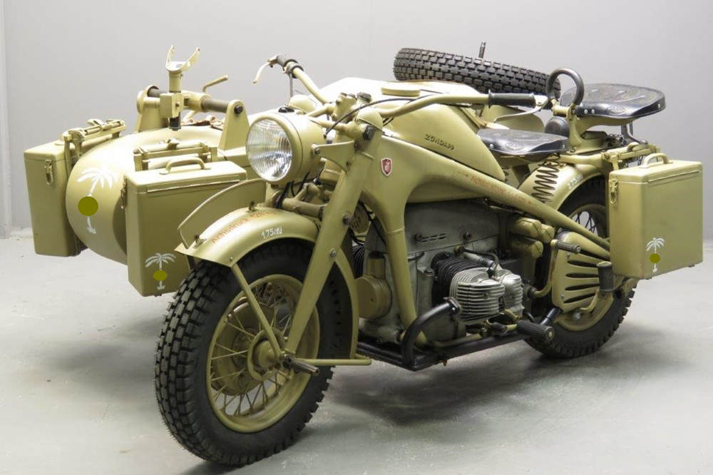 Военный мотоцикл Zundapp KS750 Combination 1942
