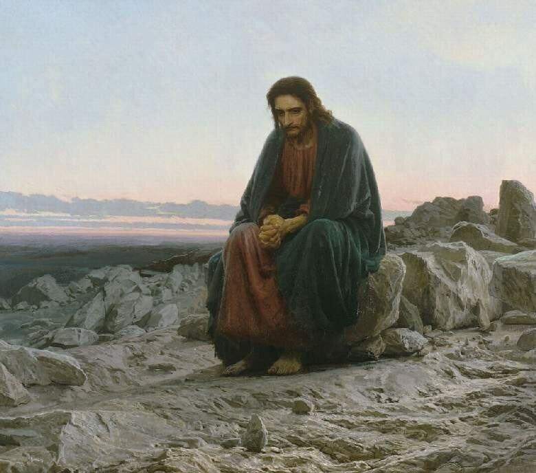 Христос в пустыне, И.Н.Крамской