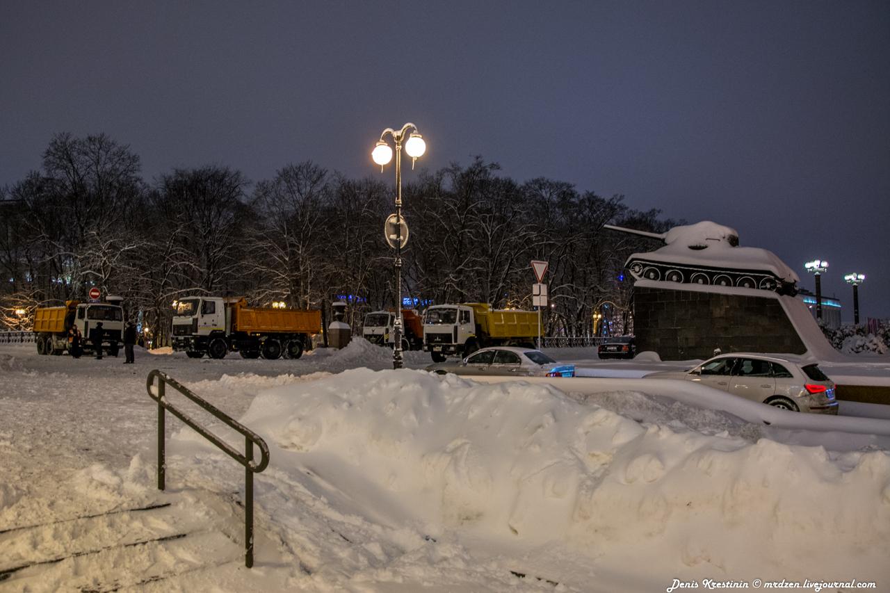 Минск снежный. Даниелла. улица Карла-Маркса