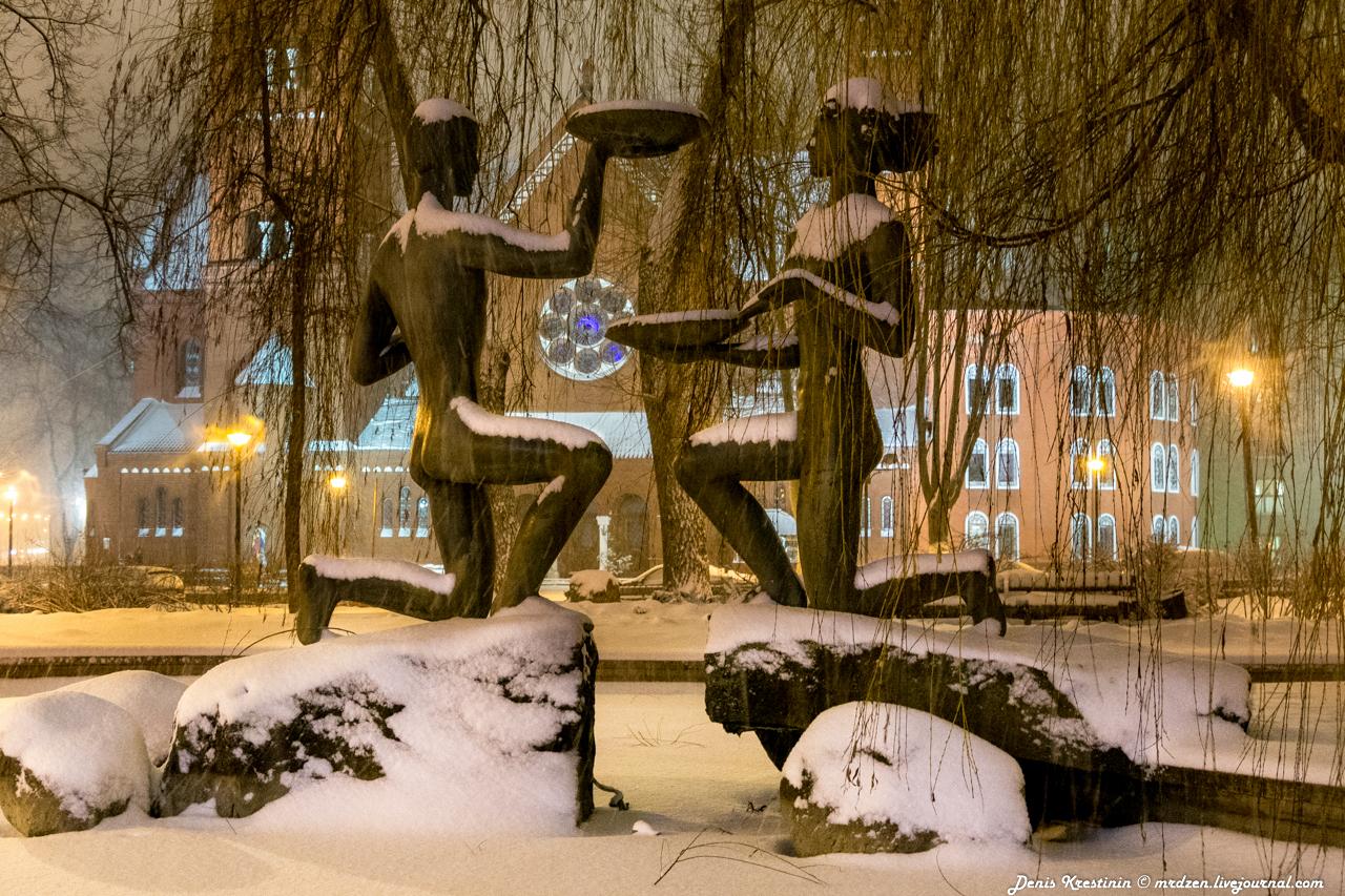 Минск снежный