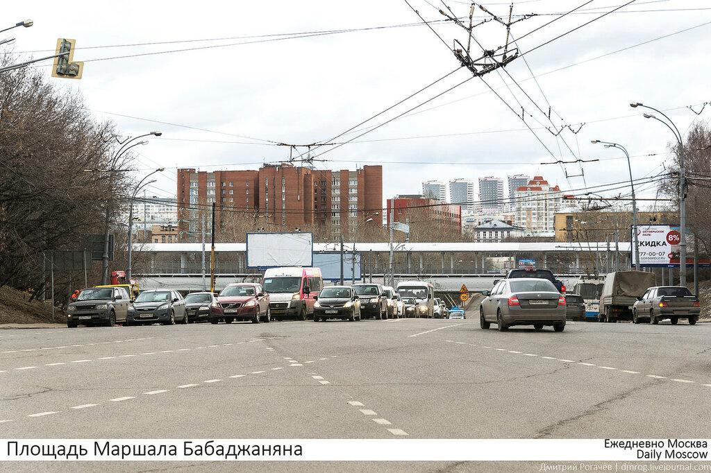 Moscow. Marshal Babadjanyan square