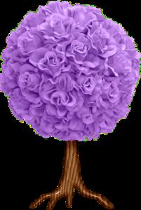 фиолетовое дерево