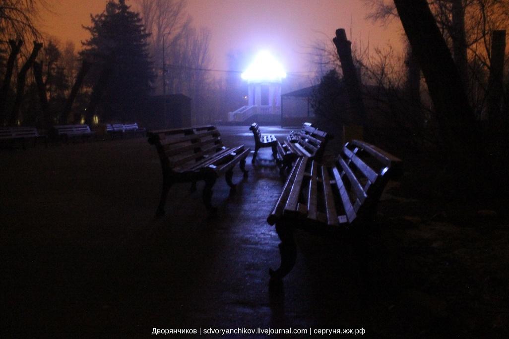 Парк Вгс - Ротонда и скамейки