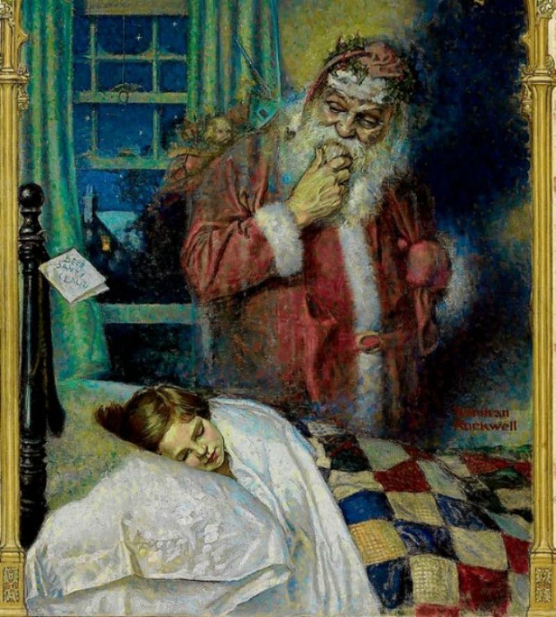 Норман Роквелл, «Санта Клаус», 1921