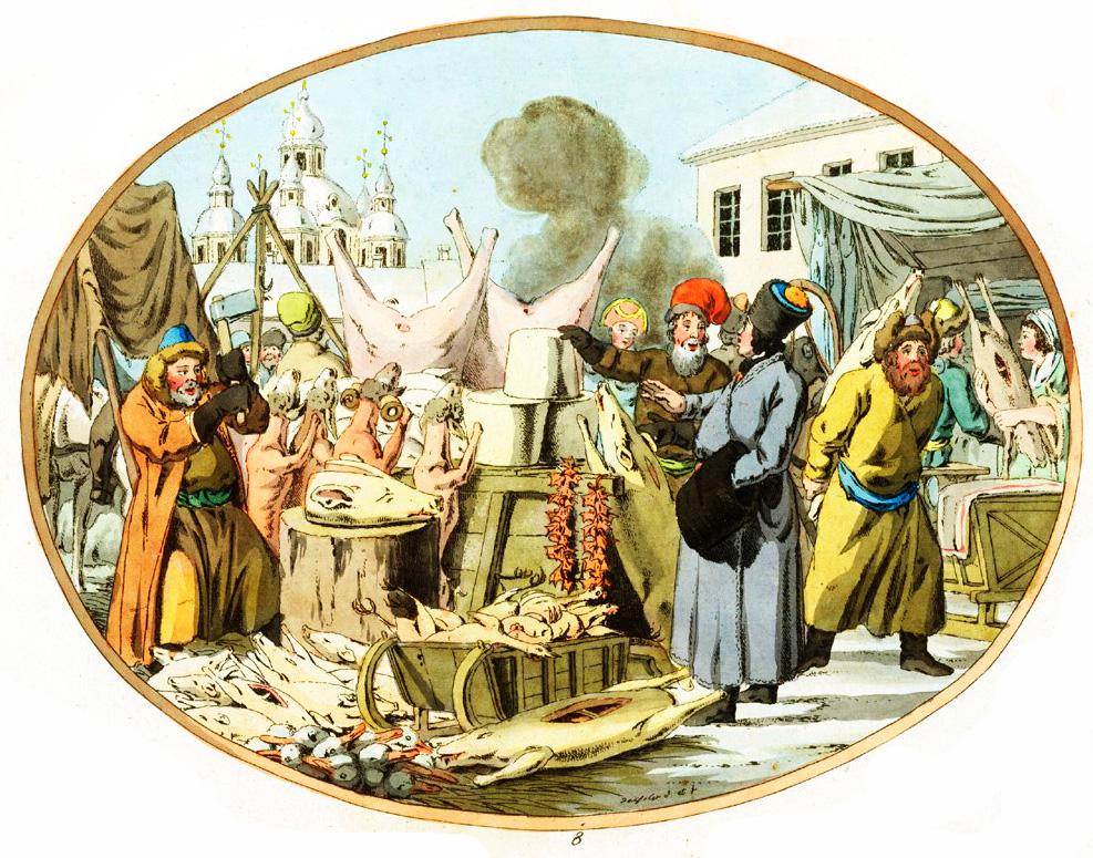 8. Торговля мороженным мясом / Markt mit gefrorenem Fleisch