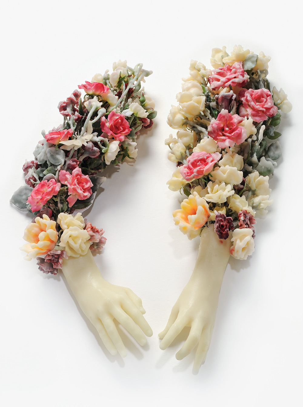 The Delicate Floral Wax Sculptures and Laser Cut Paintings of Valerie Hammond