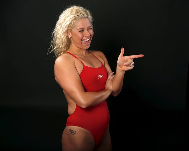 Swimmer Elizabeth Beisel poses for a portrait at the U.S. Olympic Committee Media Summit in Beverly