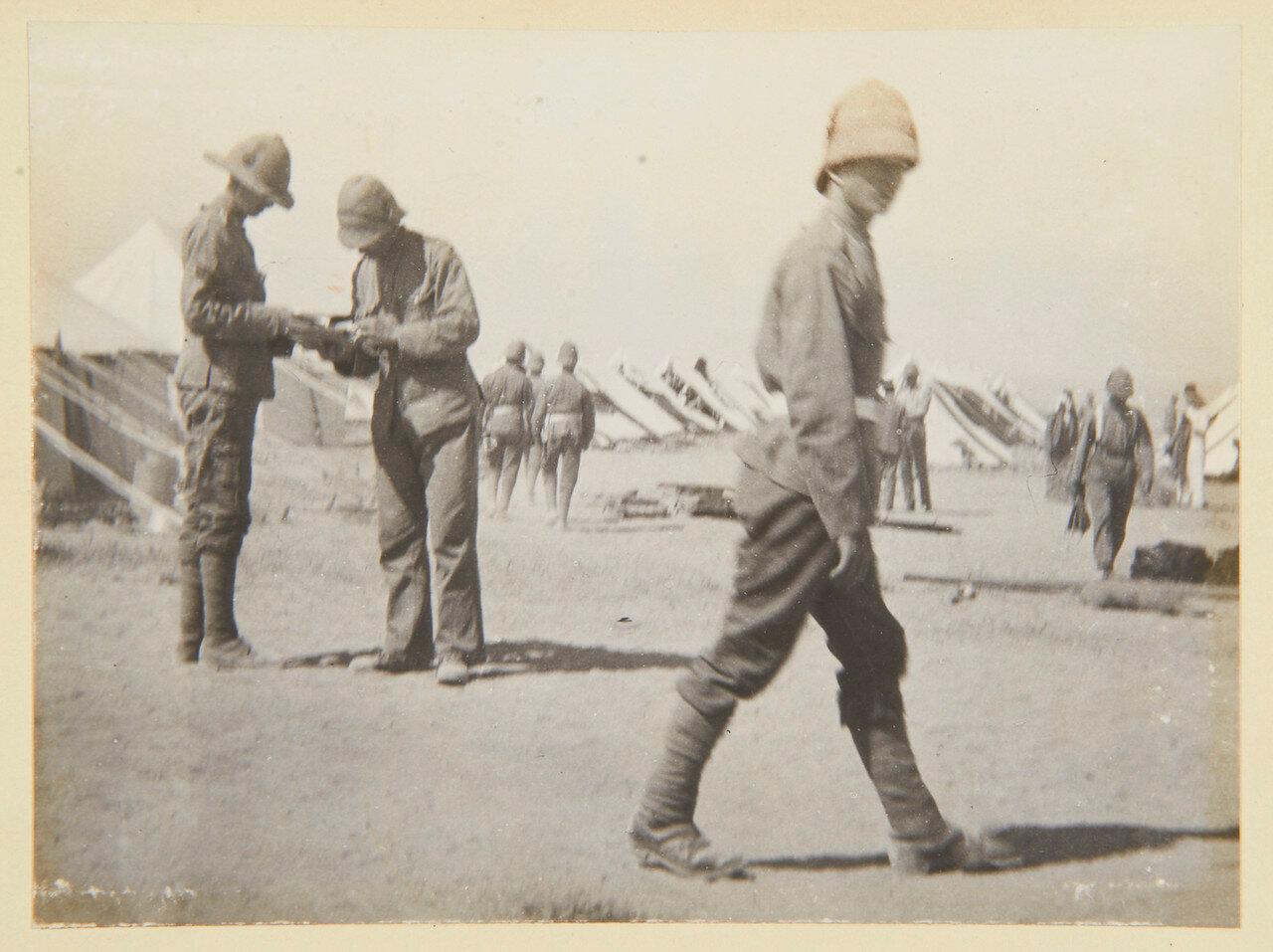 Гренадеры в Сиди Габер возле Александрии. Лагерь