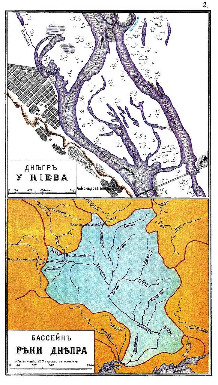 Карта реки Днепр