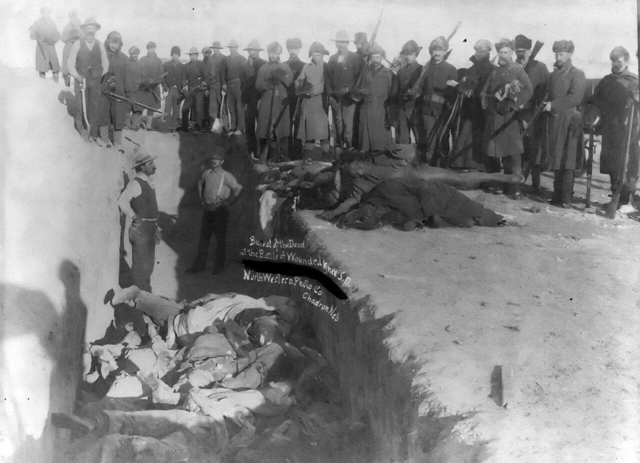 1891. Братская могила индейцев лакота
