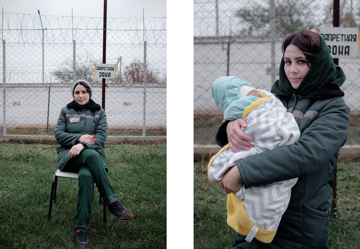 Заключенные женщины и их дети в проекте Николая Хижняка