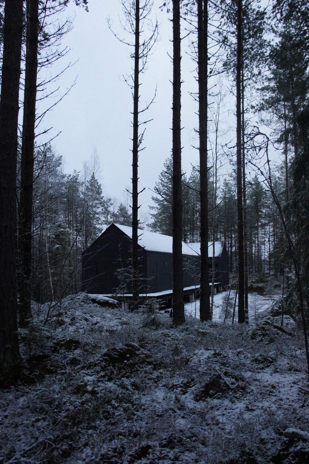 Коттедж и сауна на берегу озера в Финляндии