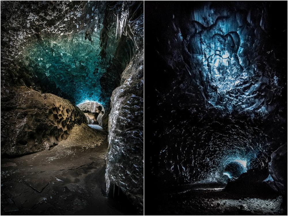 Горы и ледяные пещеры Исландии на снимках Матея Крижа