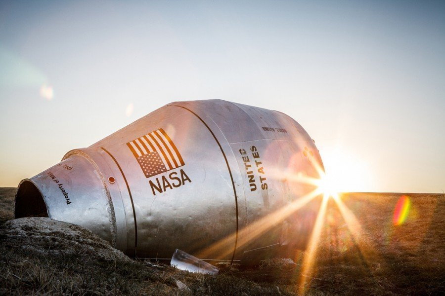 How in the ditch found a NASA spaceship