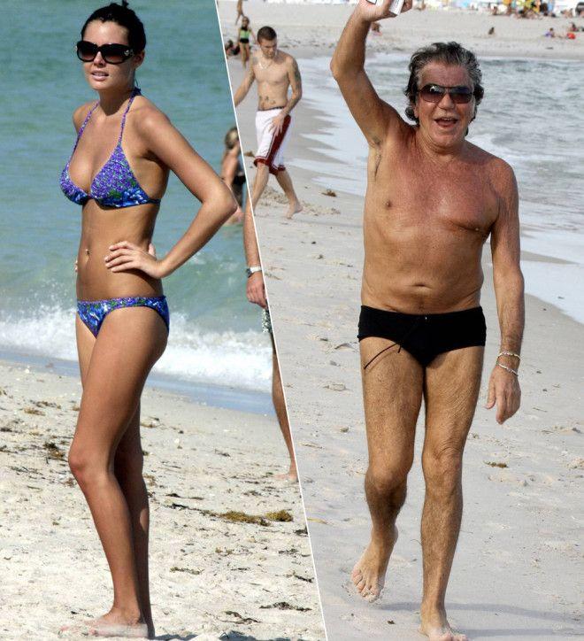 Роберто Кавалли не стесняется обнажаться на пляже — хотя фигура модного дизайнера, прямо скаже