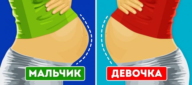 Говорят, если живот беременной острый ивыпирающий— там мальчик, аесли округлый— девочка. Увы, на