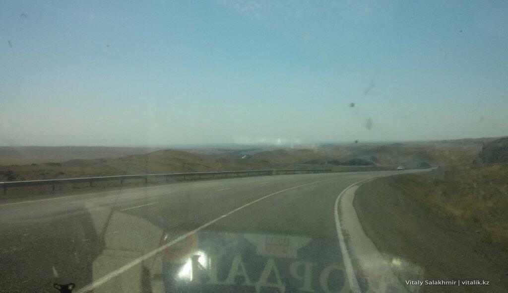 Спуск с кордайского перевала.