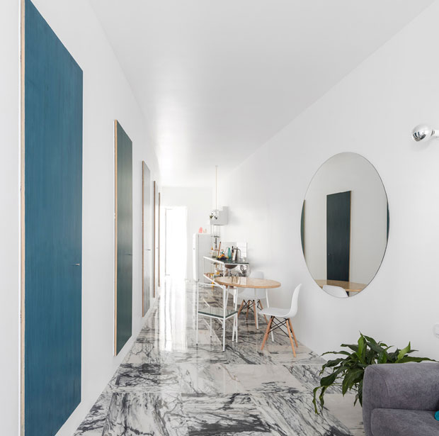 The Elongated Floorplan of Graca Apartment by Fala Atelier