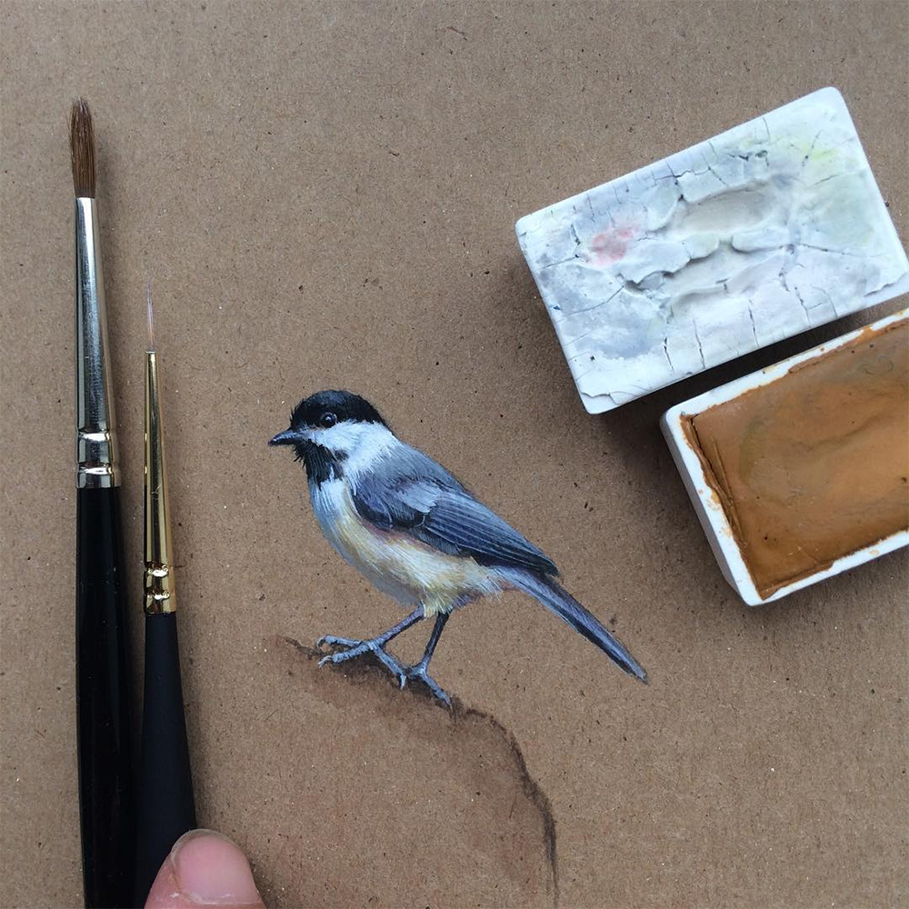 Bird by Bird: Miniature Bird Paintings by Dina Brodsky