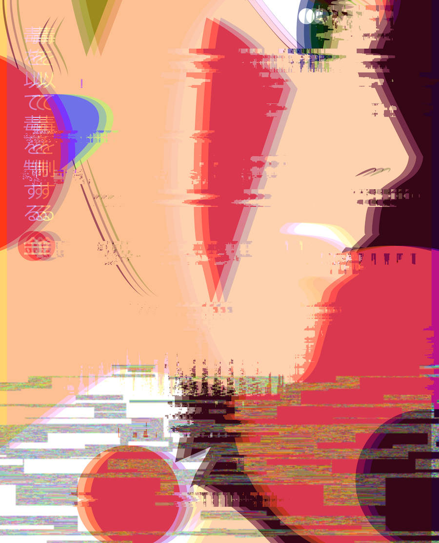 Miyazaki's Movie Posters Playing with Glitch