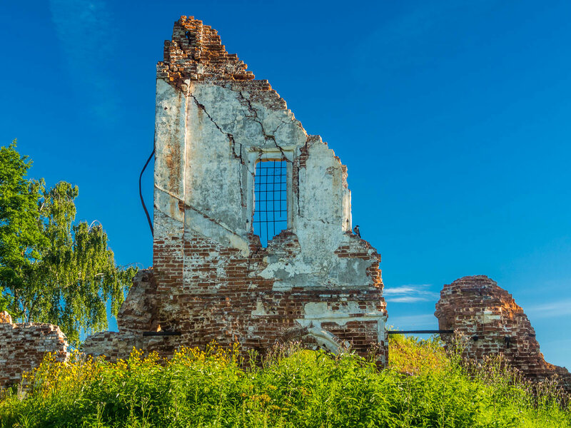 Руины церкви Спаса Нерукотворного Образа, 1716 г.