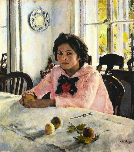 Валентин Серов. Девочка с персиками. 1887 год. Walentin Alexandrowitsch Serow Girl with Peaches.jpg