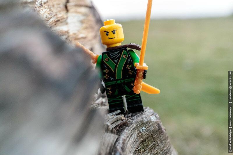 зеленый воин без маски, lego ниндзяго
