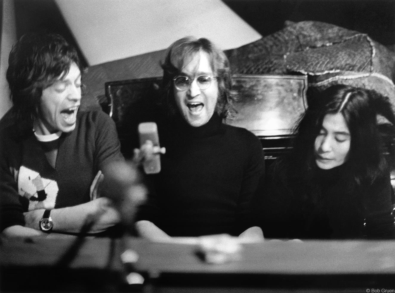 1972. Джон Леннон, Йоко Оно & Мик Джаггер
