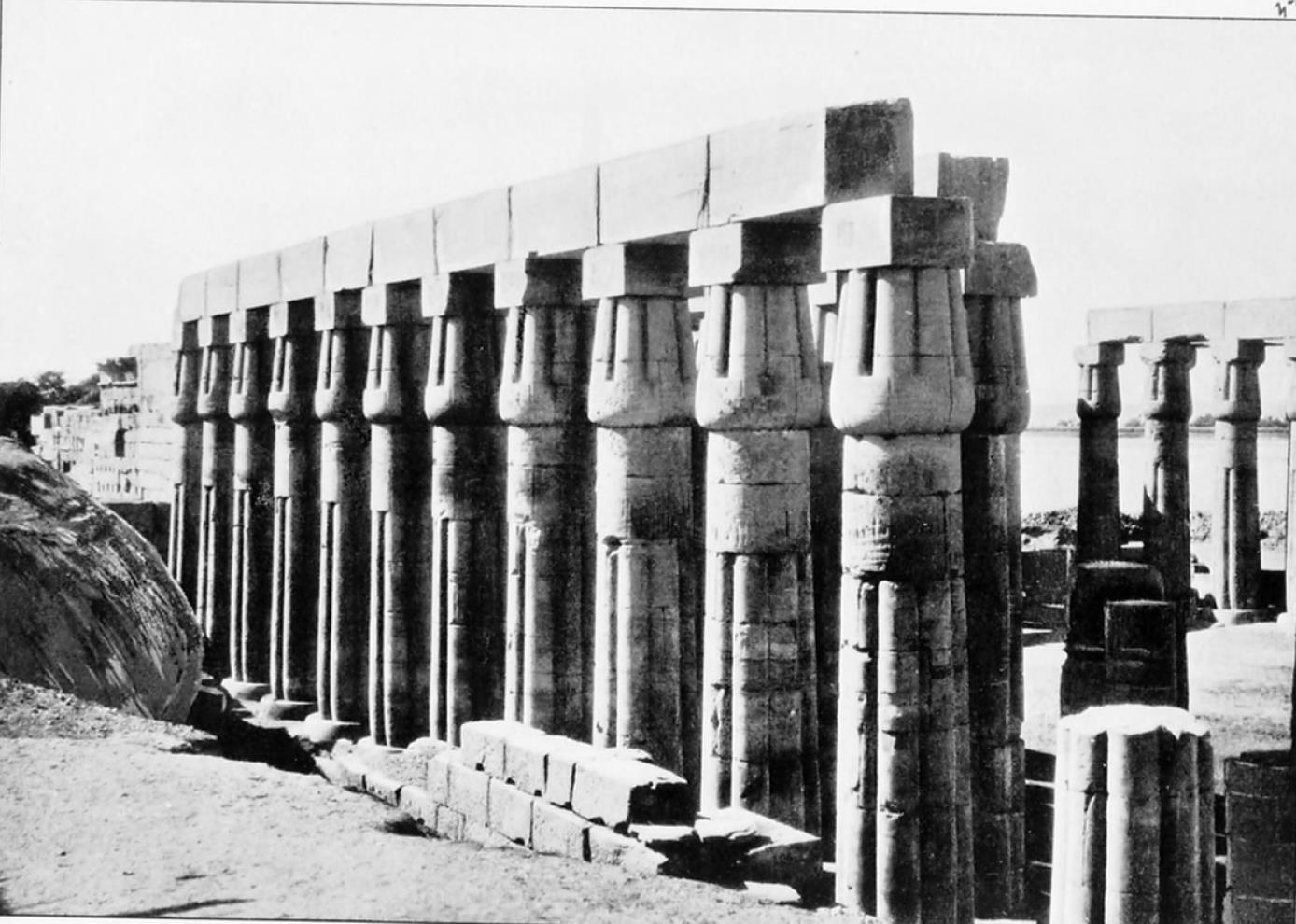 Луксор. Колоннада во втором колонном зале