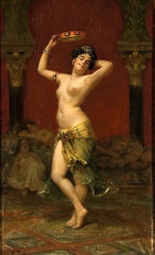 Alphonse Pellet (XIX Century, French)   Dancer With Tambourine