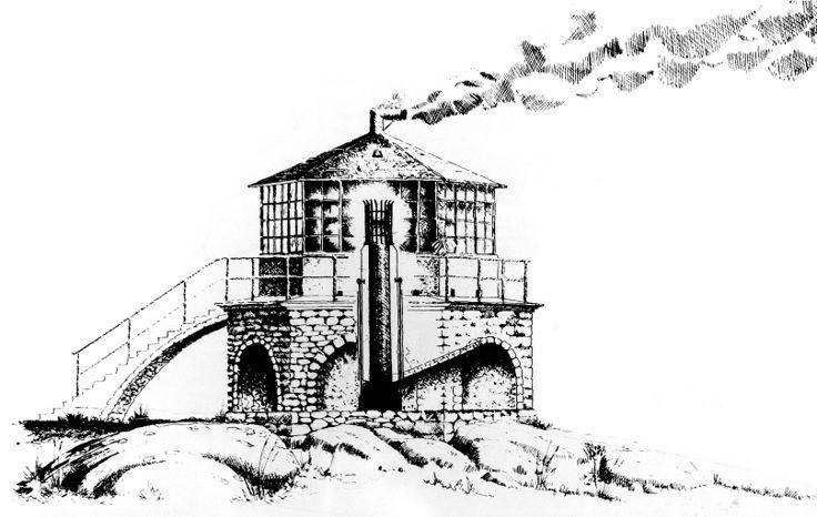 В 1915 году на Линдеснесе поставили башню из чугуна с новыми зеркалами и линзами. Был построен машин