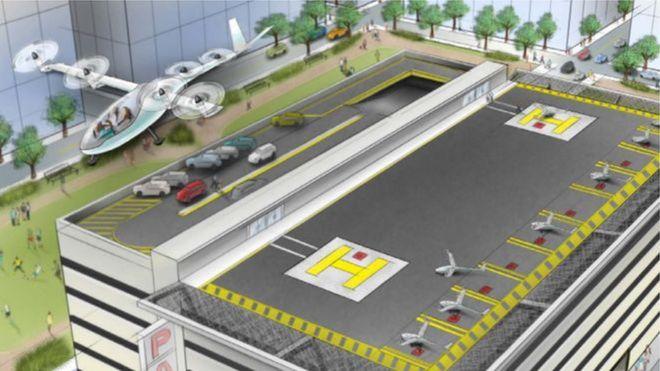 Uber и НАСА запускают сеть летающих такси (4 фото)