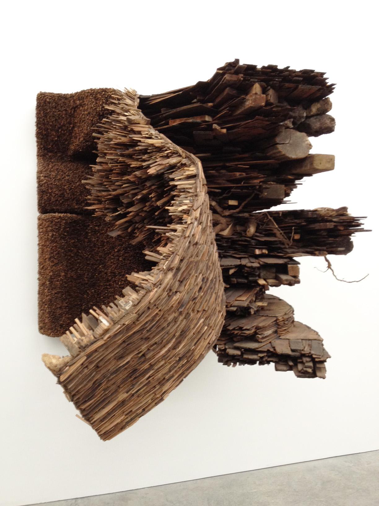 Monumental Aged Wood Constructions by Leonardo Drew